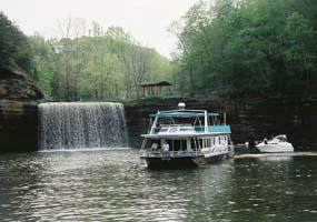 Recreational boats on Lake Cumberland