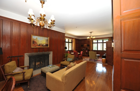 An interior view of one of the suites offered at the premier lodge inside Yosemite,  The Ahwahnee.