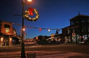 whitefish winter night in town