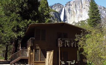 One of a handful of Lodge building at the Yosemite Valley Lodge