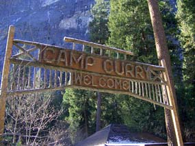 Curry Village sign